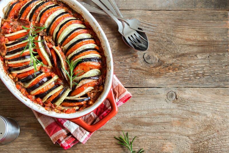 Ratatouille warzywa potrawka zdjęcia stock