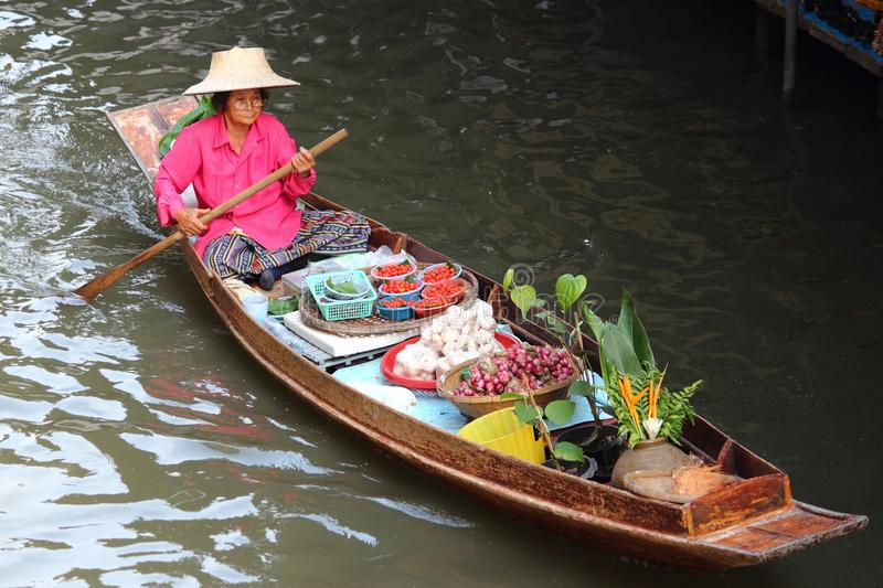 Thailand floating market stock image