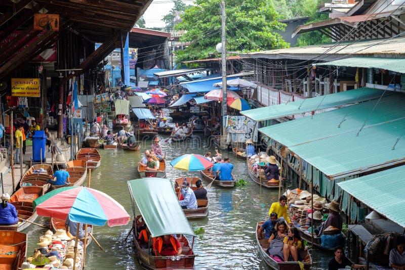 Damnoen Saduak floating market, Ratchaburi-Thailand stock photos