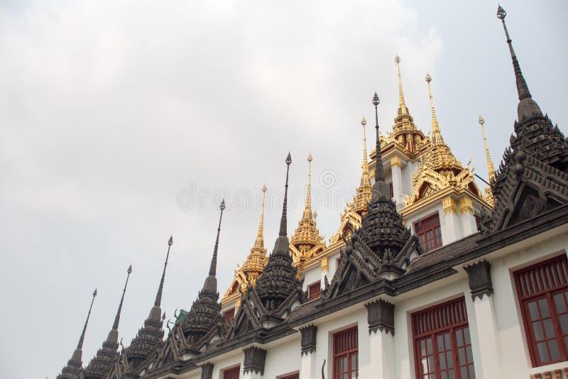 Ratchanaddatempel Bangkok Thailand royalty-vrije stock foto