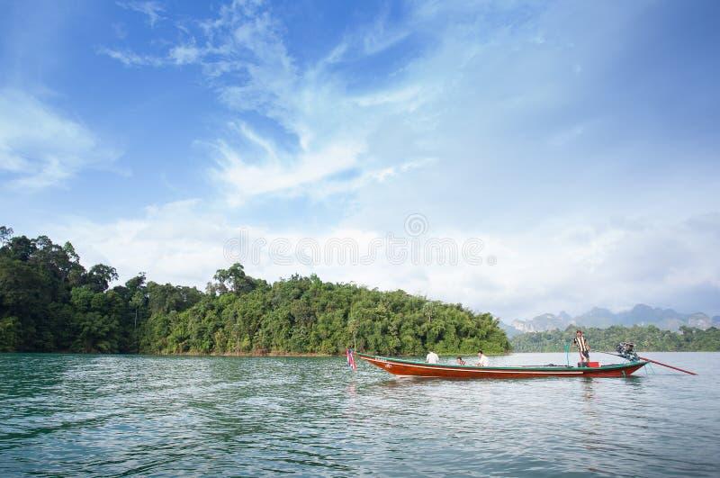 Ratchaprapha水坝 库存照片