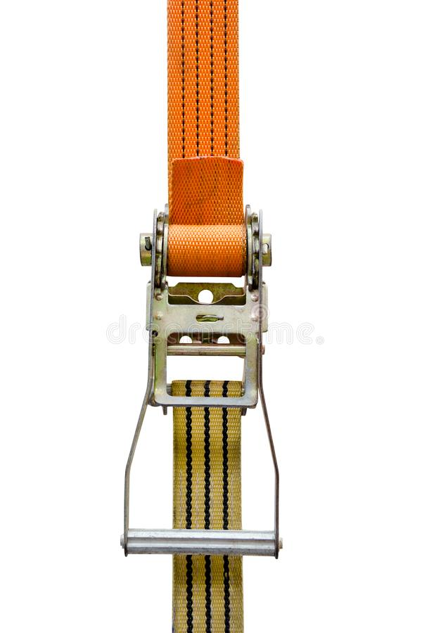 Ratchet strap isolated on white background,clipping path stock photo