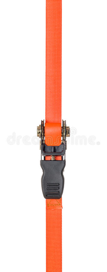 Ratchet strap on a white background royalty free stock image