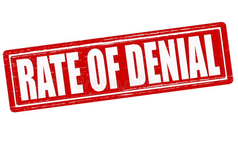 Rate of denial. Stamp with text rate of denial inside, illustration royalty free illustration