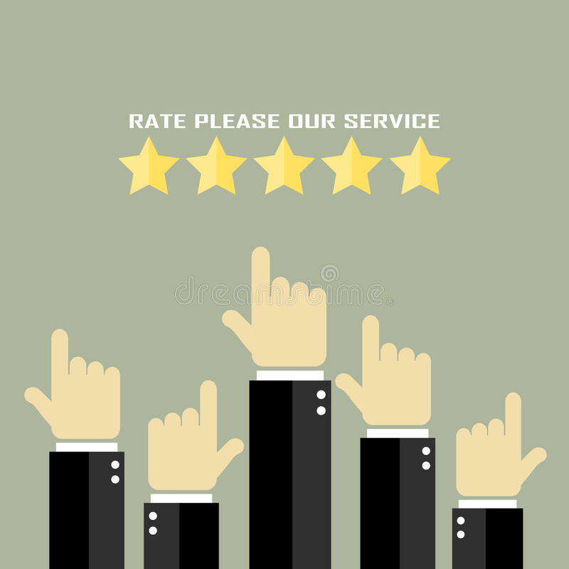 Rate our service poster royalty free illustration