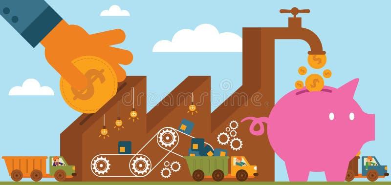 Rate Of Return : Fabrication illustration libre de droits
