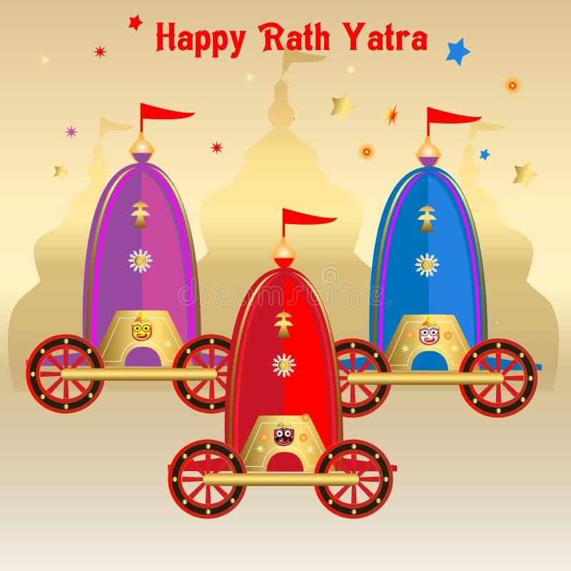 Rath, jagannath, odisha, temple, puri, seigneur, rathyatra, char, heureux, indou, Inde, culture, festival, un dieu, Indien, tradi illustration de vecteur