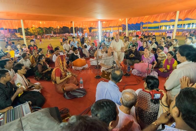 Rath jatra på Kolkata, västra Bengal - Indien royaltyfri foto