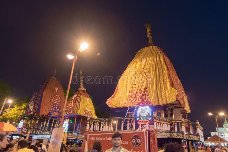 Rath jatra przy Kolkata Zachodni Bengalia, India, - zdjęcia stock