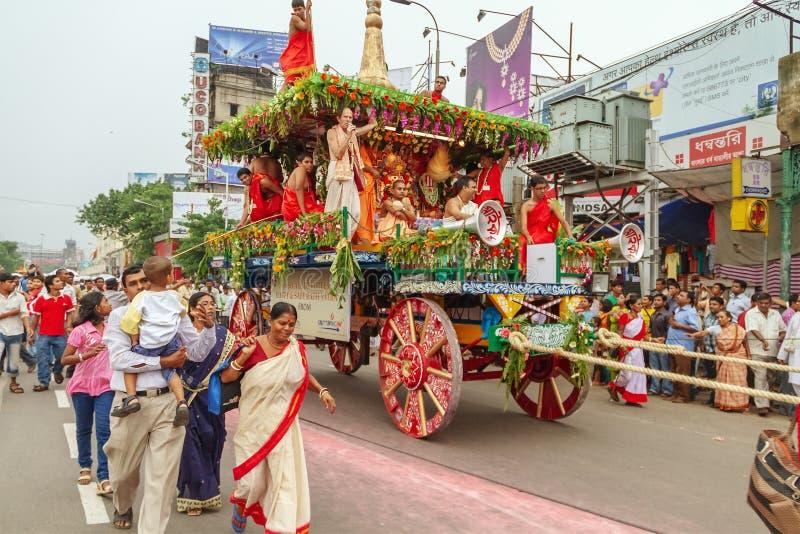 Rath Yatra Procession at Kolkata. West Bengal stock photography