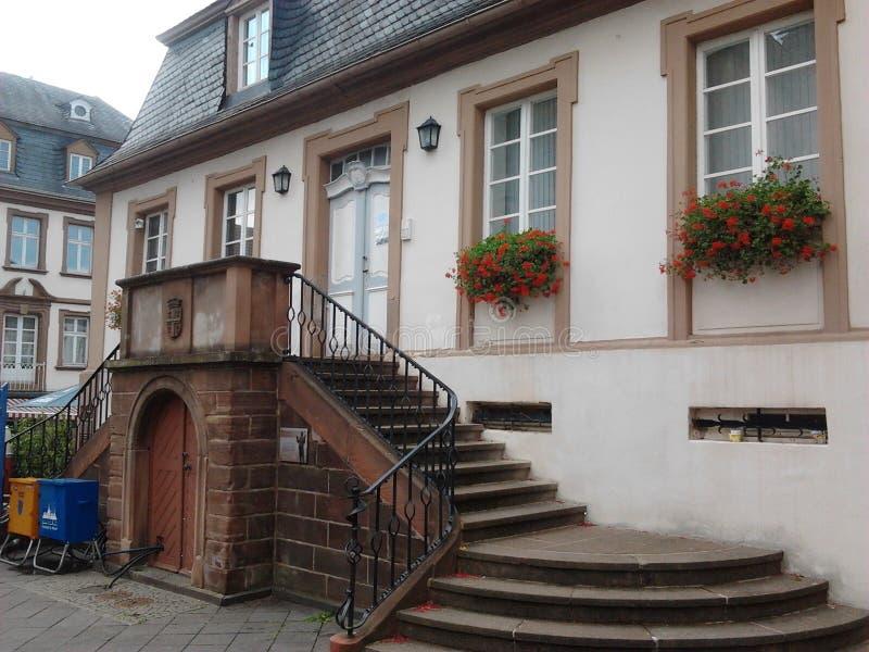 Rathaus в Sankt Wendel стоковое изображение rf
