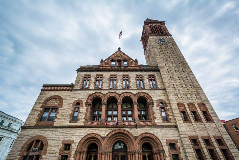 Rathaus, in Albanien, New York stockfotografie