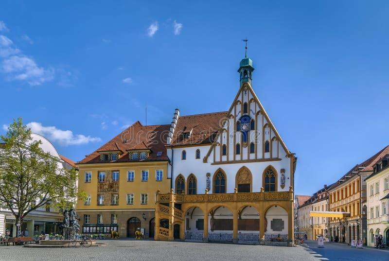 Rathaus in Amberg, Deutschland lizenzfreie stockfotografie