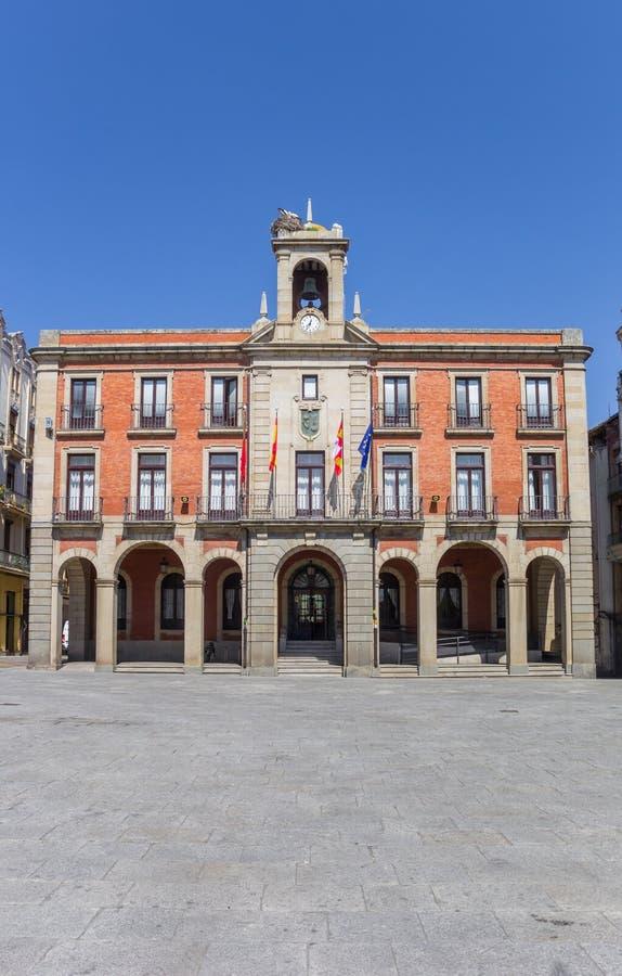 Rathaus auf dem Piazza-Bürgermeister von Zamora stockbild