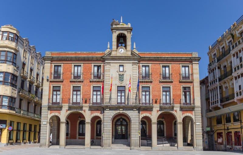 Rathaus auf dem Piazza-Bürgermeister von Zamora lizenzfreies stockbild