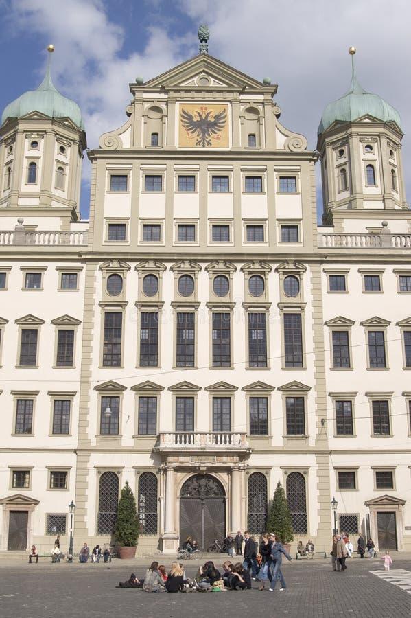 Rathaus, Augsburg stockbilder