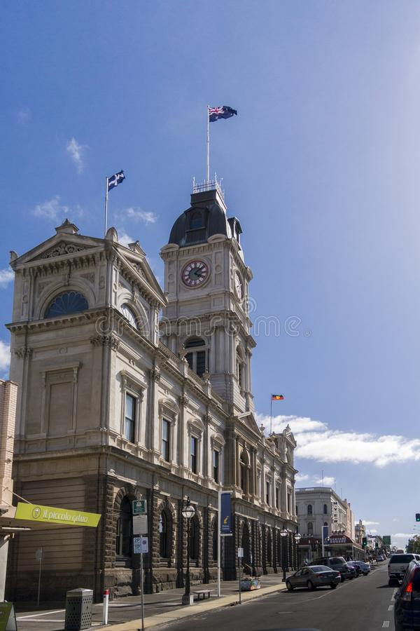 Rathaus, Ballarat, Australien lizenzfreie stockfotografie