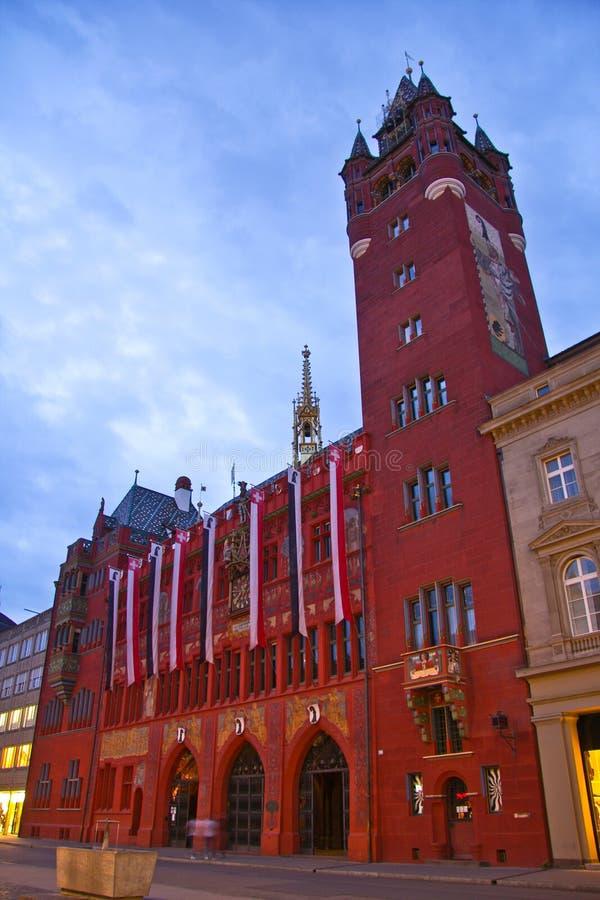 Rathaus in Basel lizenzfreie stockbilder