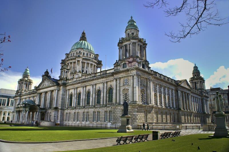 Rathaus, Belfast Nordirland lizenzfreies stockbild