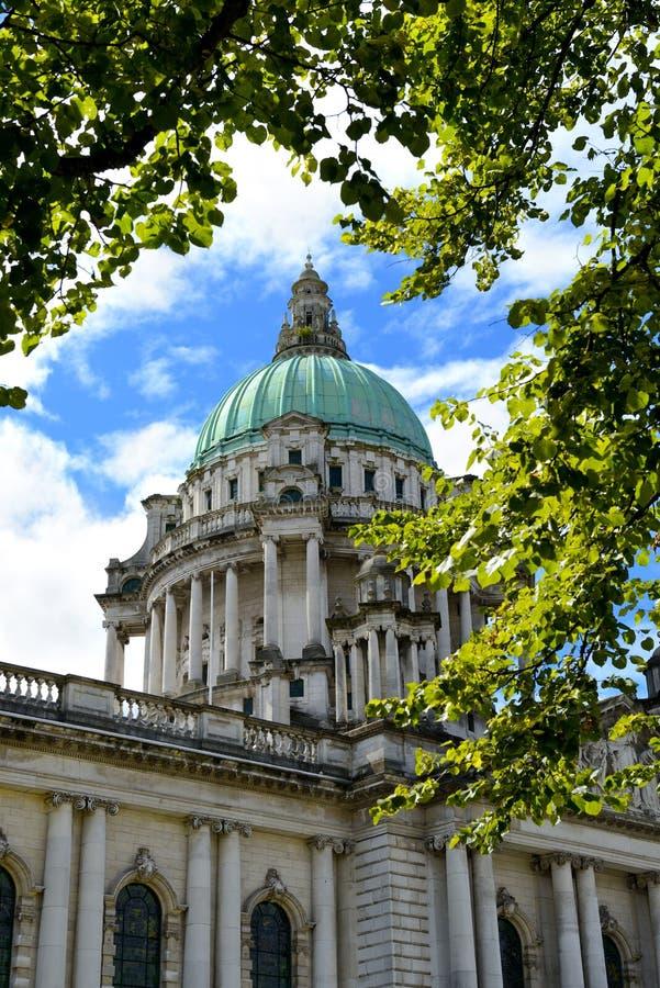 Rathaus, Belfast, Nordirland lizenzfreie stockfotos
