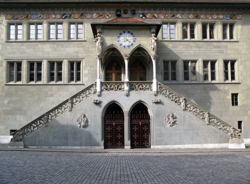 Rathaus, Bern, die Schweiz lizenzfreie stockfotos