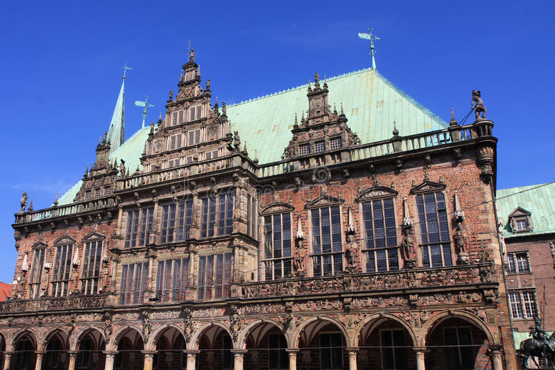 Rathaus, Bremen. Rathaus town hall in Bremen stock images