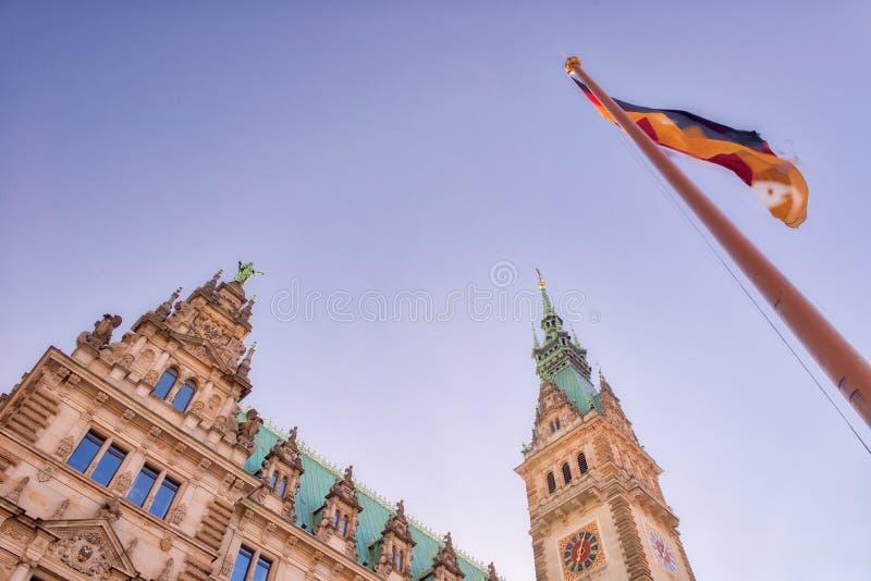 Rathaus de Hamburgo, ayuntamiento - Alemania imagen de archivo