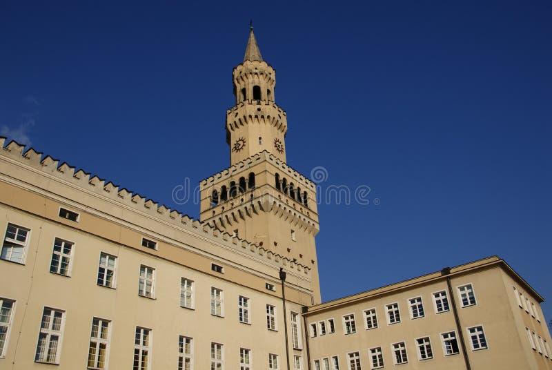 Rathaus in der polnischen Stadt stockfoto