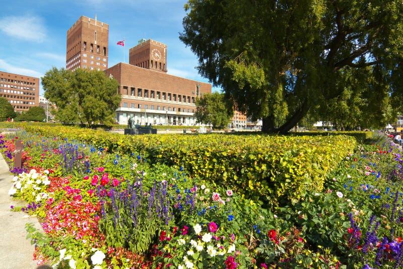 Rathaus der Stadt von Oslo, Norwegen stockfotos