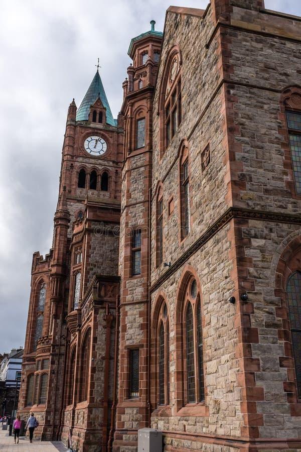 Rathaus Derry Northern Ireland lizenzfreie stockbilder