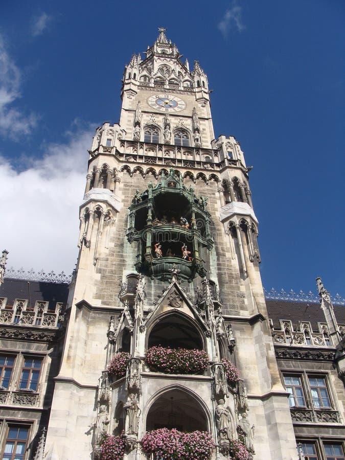 Rathaus em Muenchen, Townhall em Munich fotografia de stock