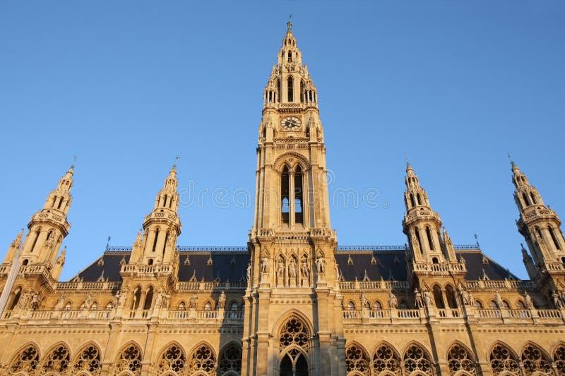 Download Rathaus em Viena, Áustria foto de stock. Imagem de clock - 26524492