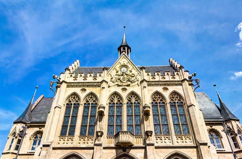 Rathaus in Erfurt lizenzfreies stockbild