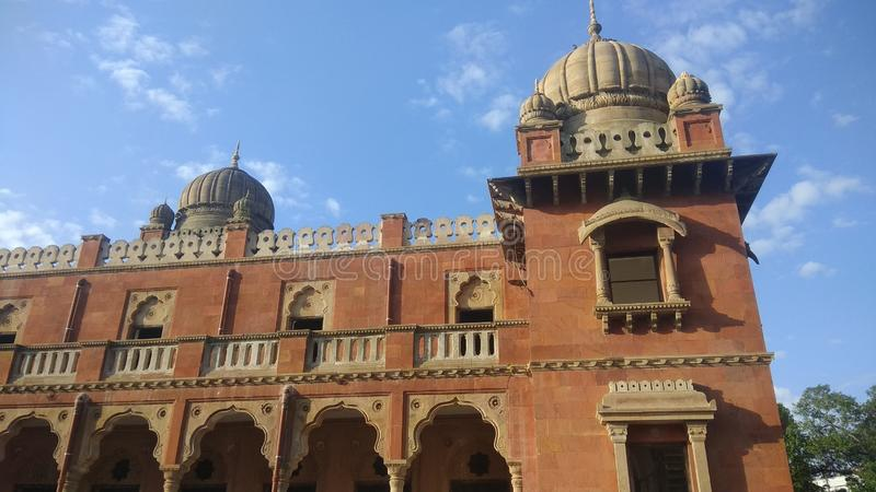 Rathaus Gandhi Hall oder in Indore stockbild
