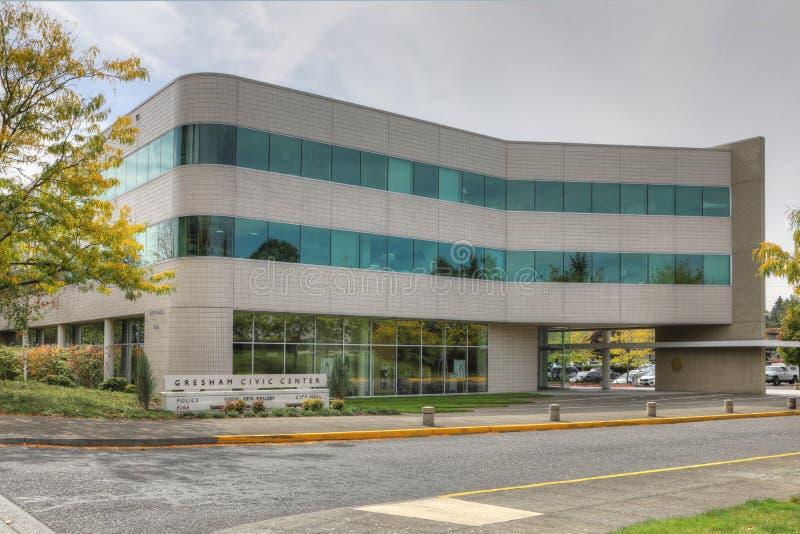 Rathaus in Gresham, Oregon lizenzfreie stockbilder