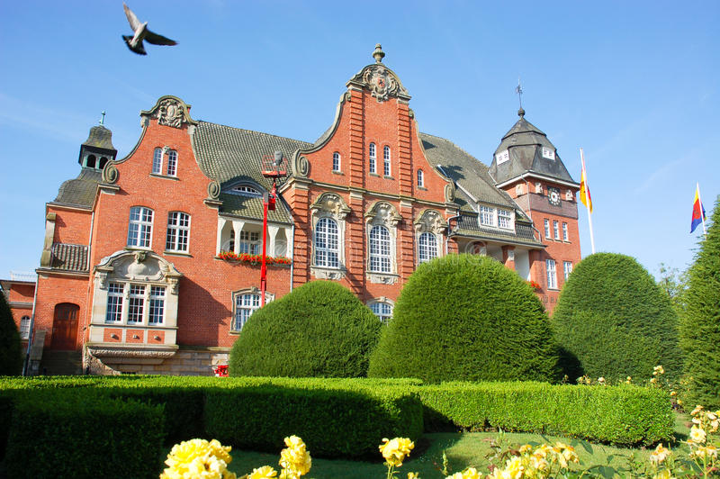 Rathaus i Papenburg, Tyskland royaltyfri bild