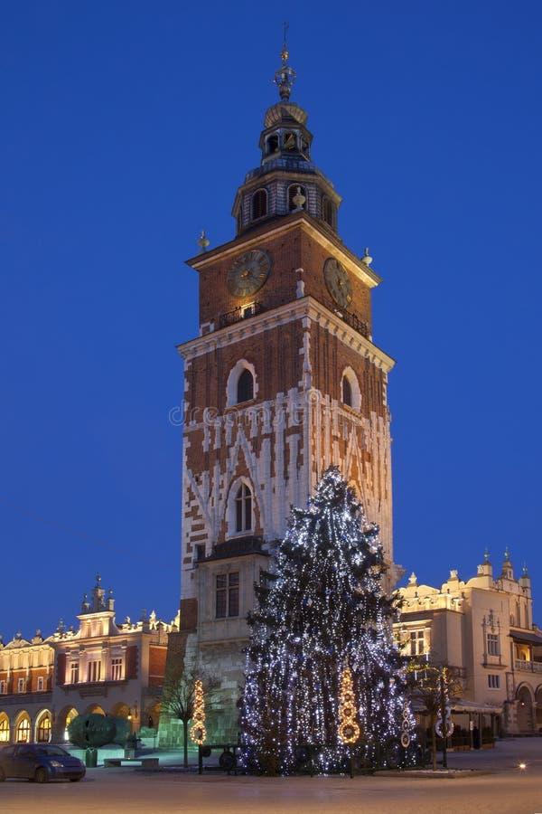 Rathaus-Kontrollturm - Krakau - Polen stockbilder