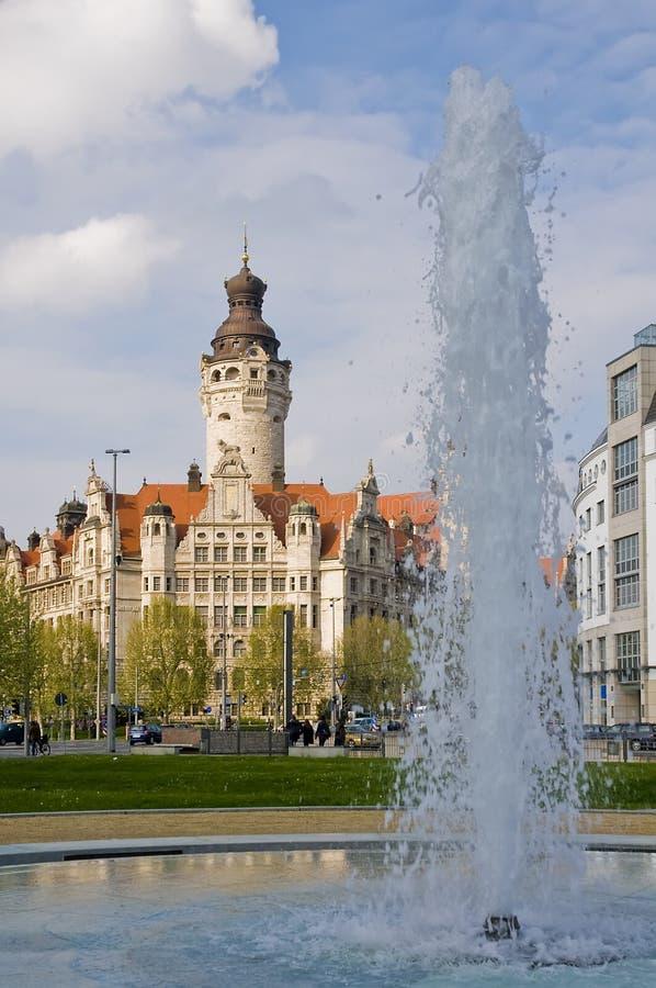 Rathaus in Leipzig stockfotos