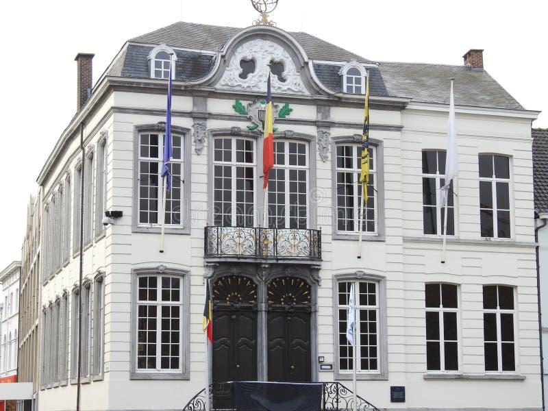 Rathaus - Lokeren - Belgien lizenzfreie stockfotos