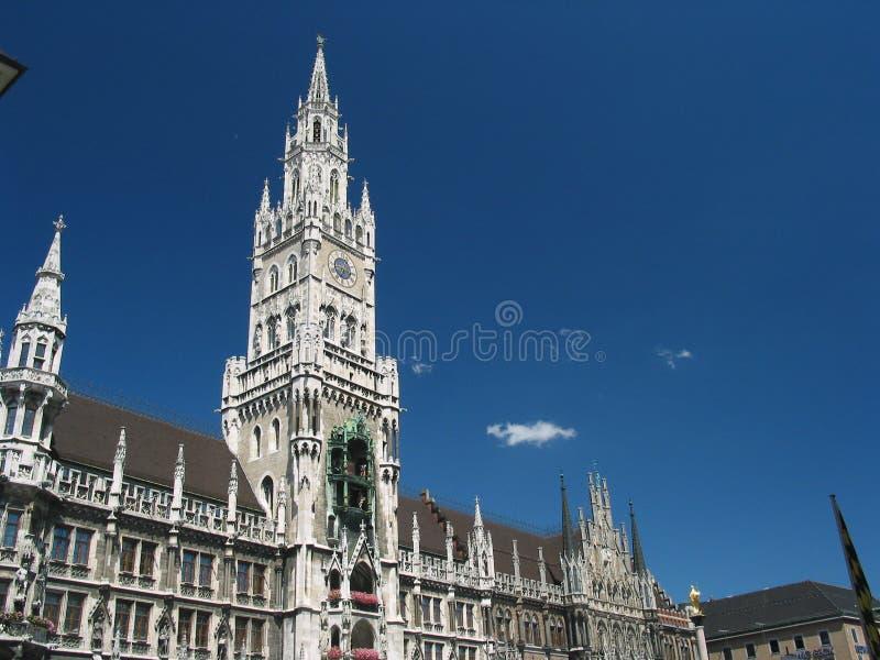 Rathaus in München, Deutschland stockbild