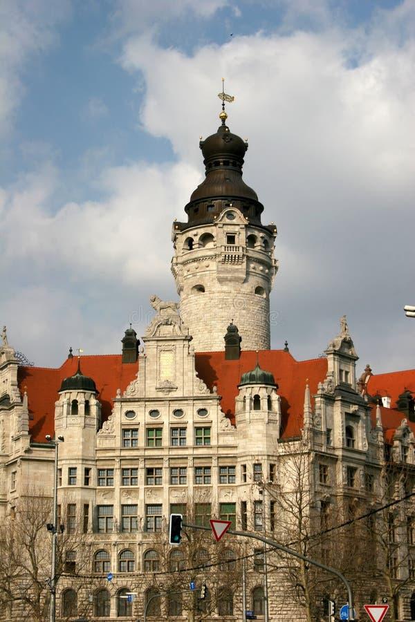 rathaus neues leipzig стоковые фото