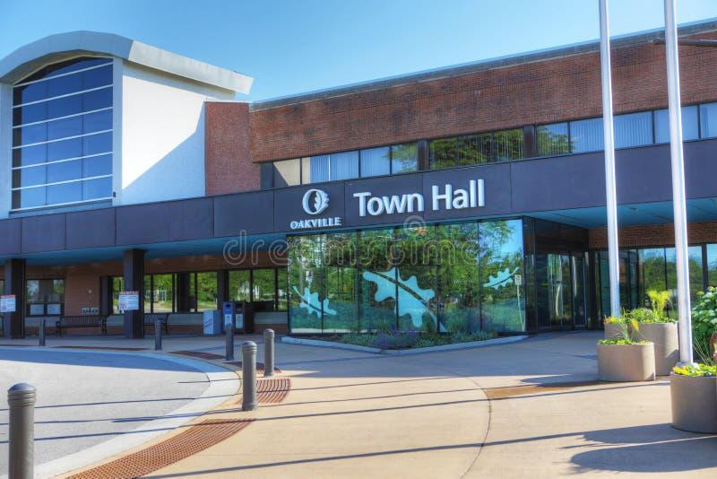 Rathaus in Oakville, Kanada stockbilder