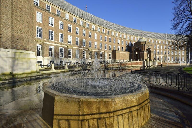 Rathaus oder das Rats-Haus stockbild