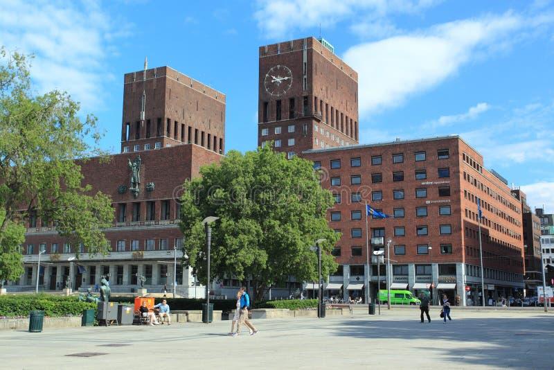 Rathaus in Oslo stockfotografie