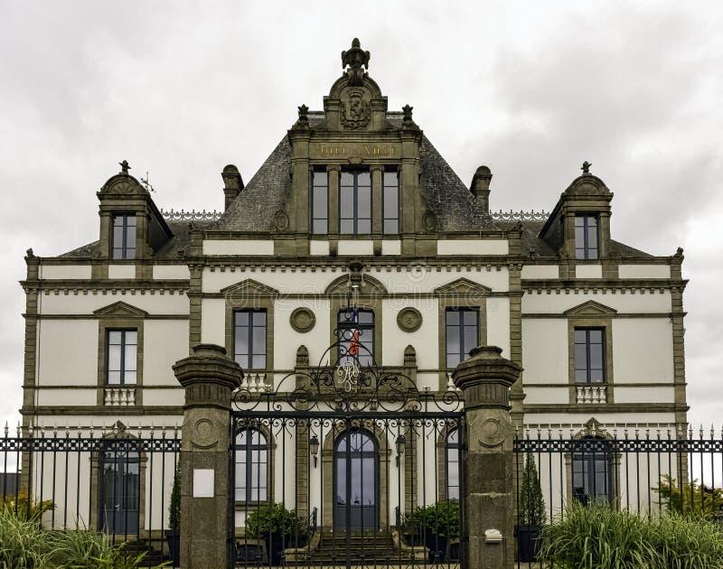 Rathaus in Ploermel, Bretagne, Frankreich stockfoto