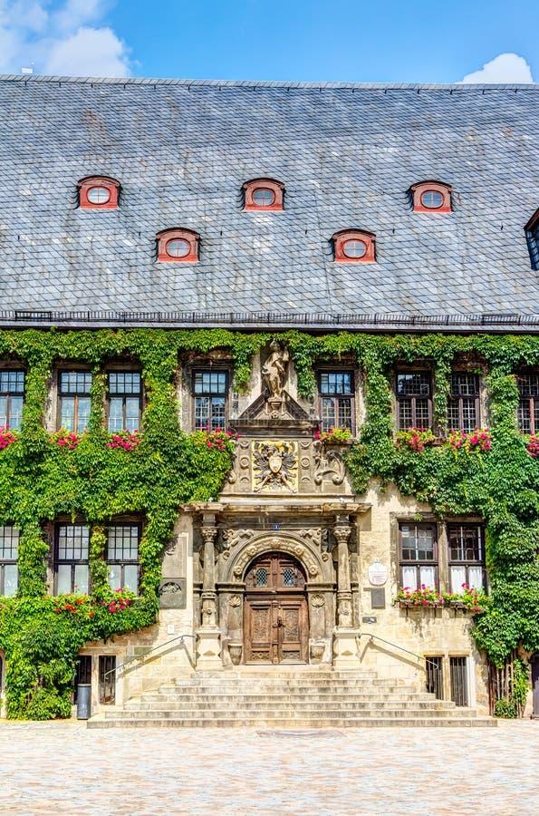 Rathaus in Quedlinburg, Deutschland lizenzfreies stockfoto