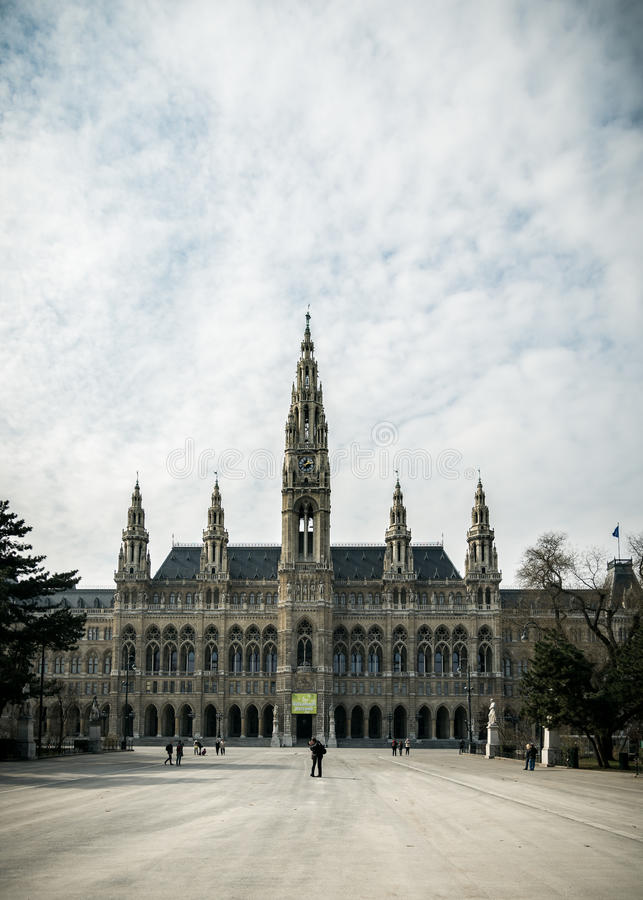 Rathaus (Rathaus) Wien stockbilder