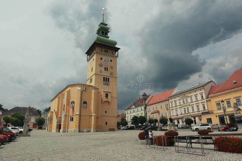 Rathaus in Retz stockfotos