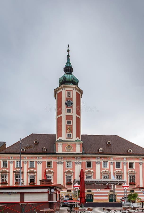 Rathaus Sankt Polten, Österreich stockfotos