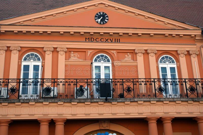 Rathaus, Sombor, Serbien stockfotos